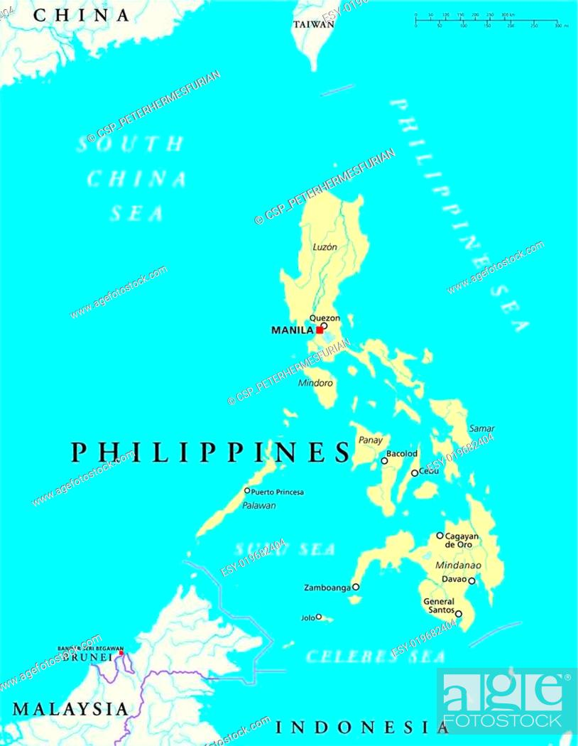 Philippines Political Map Stock Vector Vector And Low Budget