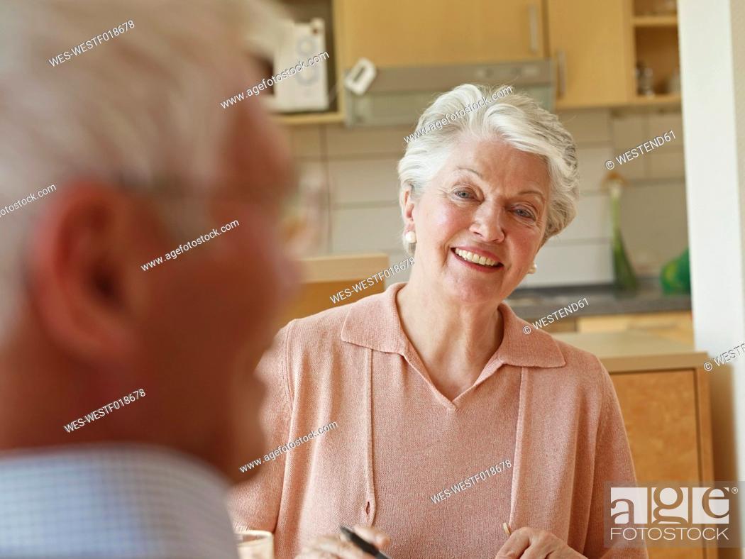 Stock Photo: Germany, Cologne, Senior couple in nursing home.