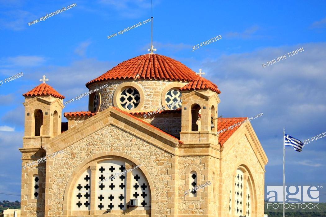 Stock Photo: Cyprus, Paphos, Agios Georgios church.