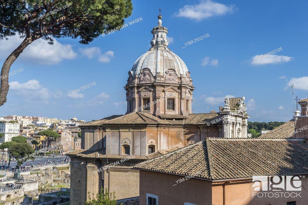 Stock Photo: Chiesa dei Santi Luca e Martina, Rome, Lazio, Italy, Europe.
