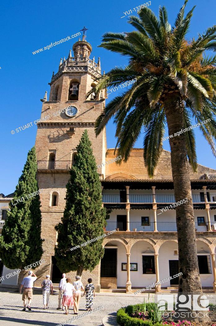 Stock Photo: Church of Santa Maria in Ronda, Western part of the Province of Malaga, Andalucía, Spain.