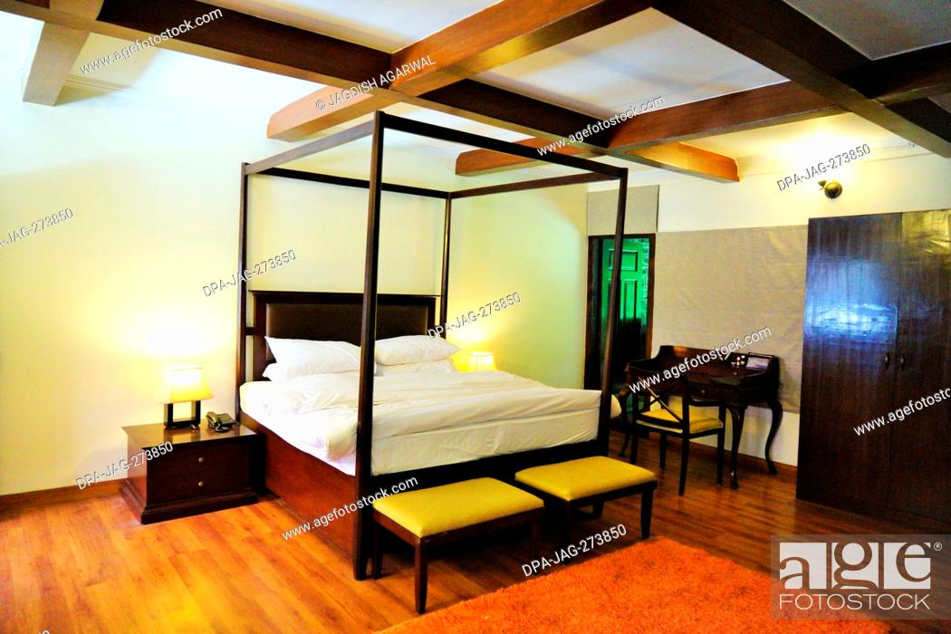 Stock Photo: Hotel Baikunth Magnolia interior, Manali, Himachal Pradesh, India, Asia.