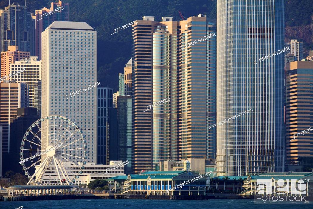 Stock Photo: China, Hong Kong, Central district, skyline, .