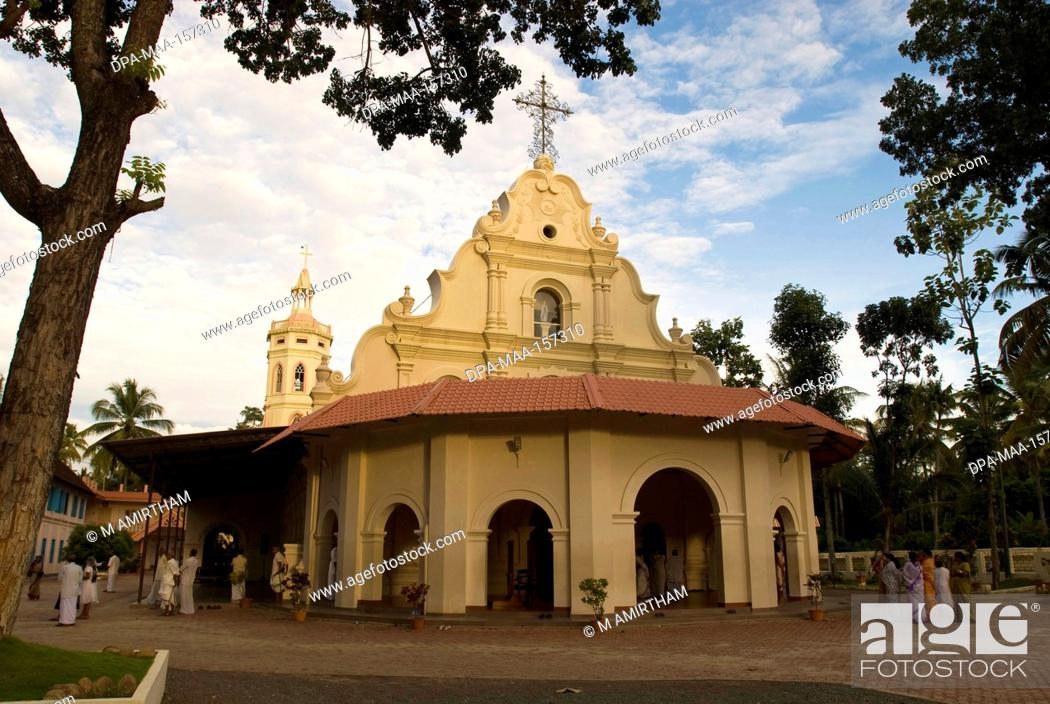 Stock Photo: St. Mary's church Estd1463 dedicated to Our Lady ; popularly called Vechoor Muthiamma at Vechoor ; Kerala ; India.
