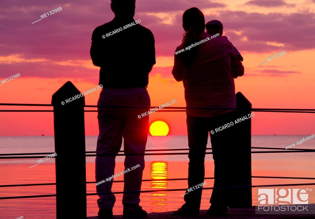 Stock Photo: Lavender Sunset in the Florida Keys.