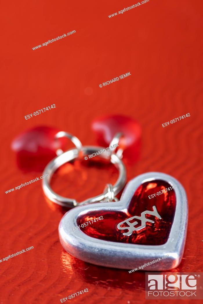 Stock Photo: still life of Valentine's decoration.