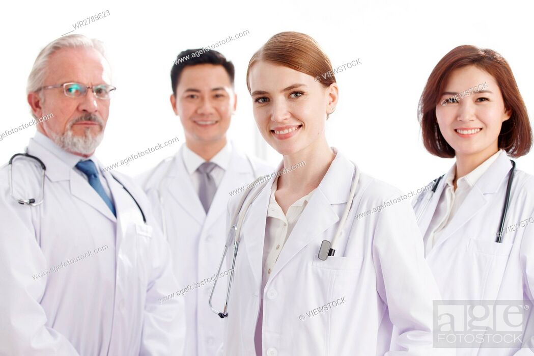 Stock Photo: Portrait of medical team.