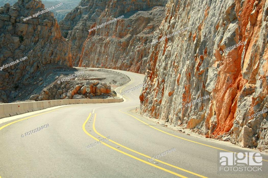 Stock Photo: oman, road.