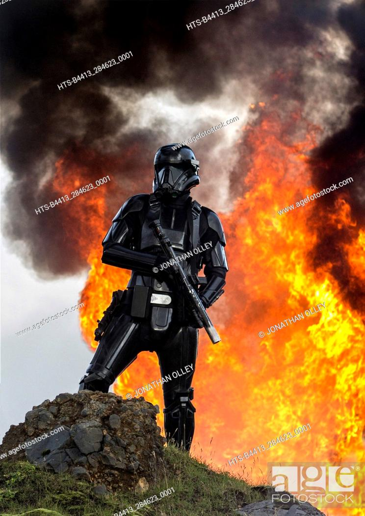 Stock Photo: Rogue One: A Star Wars Story. A Death Trooper.
