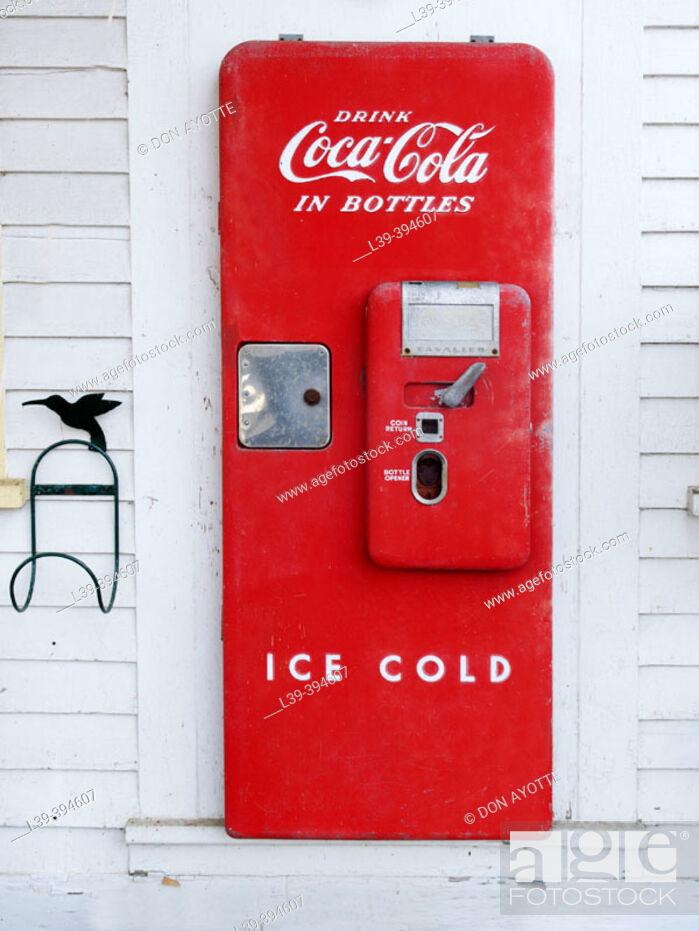 Stock Photo: Antique coke machine.