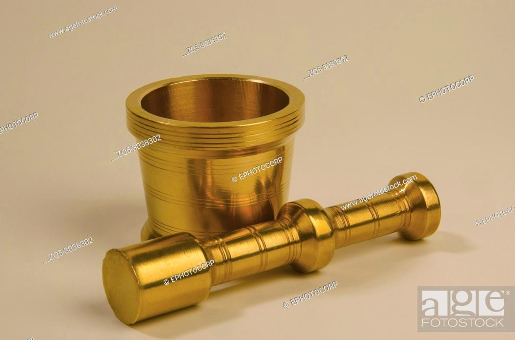 Stock Photo: Old Brass perforaters, Pune, Maharashtra, India.