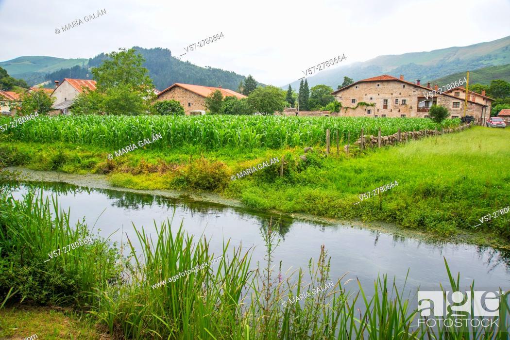 Stock Photo: Landscape. Ruente, Cantabria, Spain.