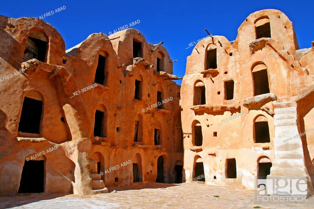 Stock Photo: Ksar Ouled Soultan, traditional Berber architecture, Tunis.