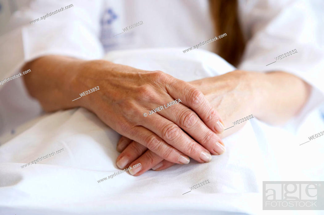 Stock Photo: Patient in hospitalization.