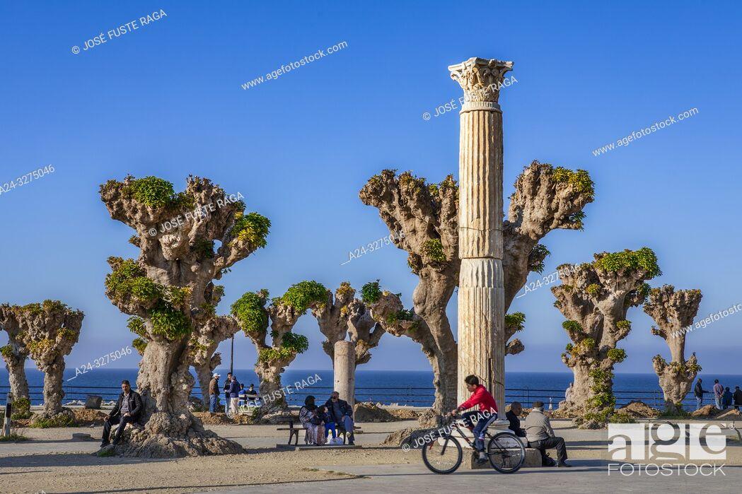 Stock Photo: Algeria, Cherchell City, (ancient Caesarea), La Placette Square.
