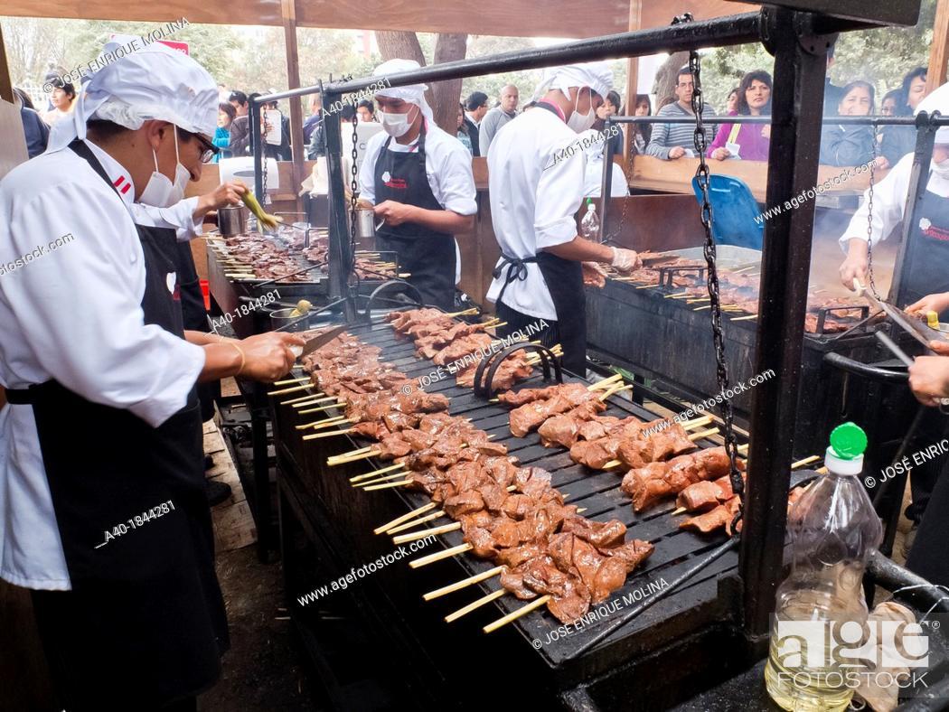 Stock Photo: Mistura food fair in Lima Peru.