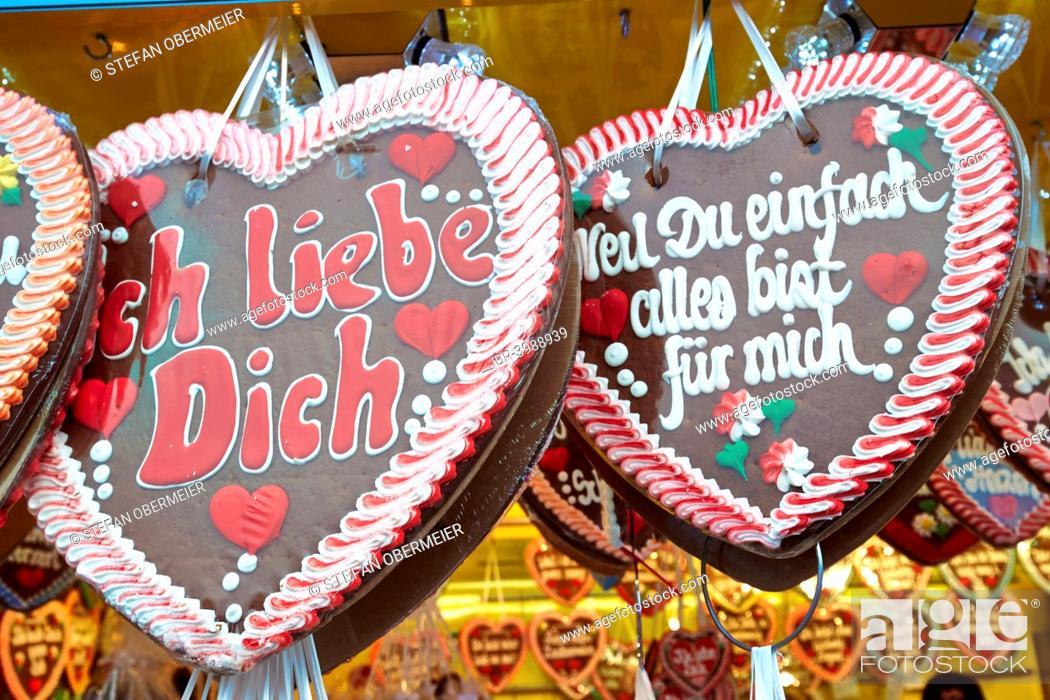 Gingerbread Hearts Oktoberfest Munich Upper Bavaria Bavaria