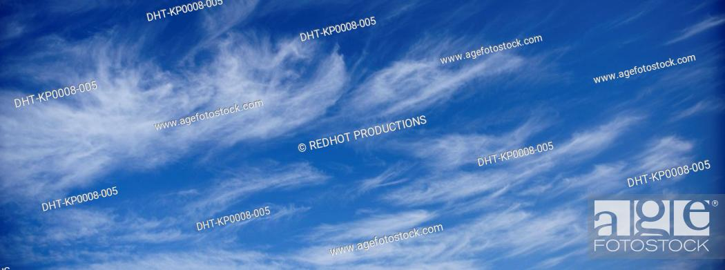 Stock Photo: Blue skies with clouds.