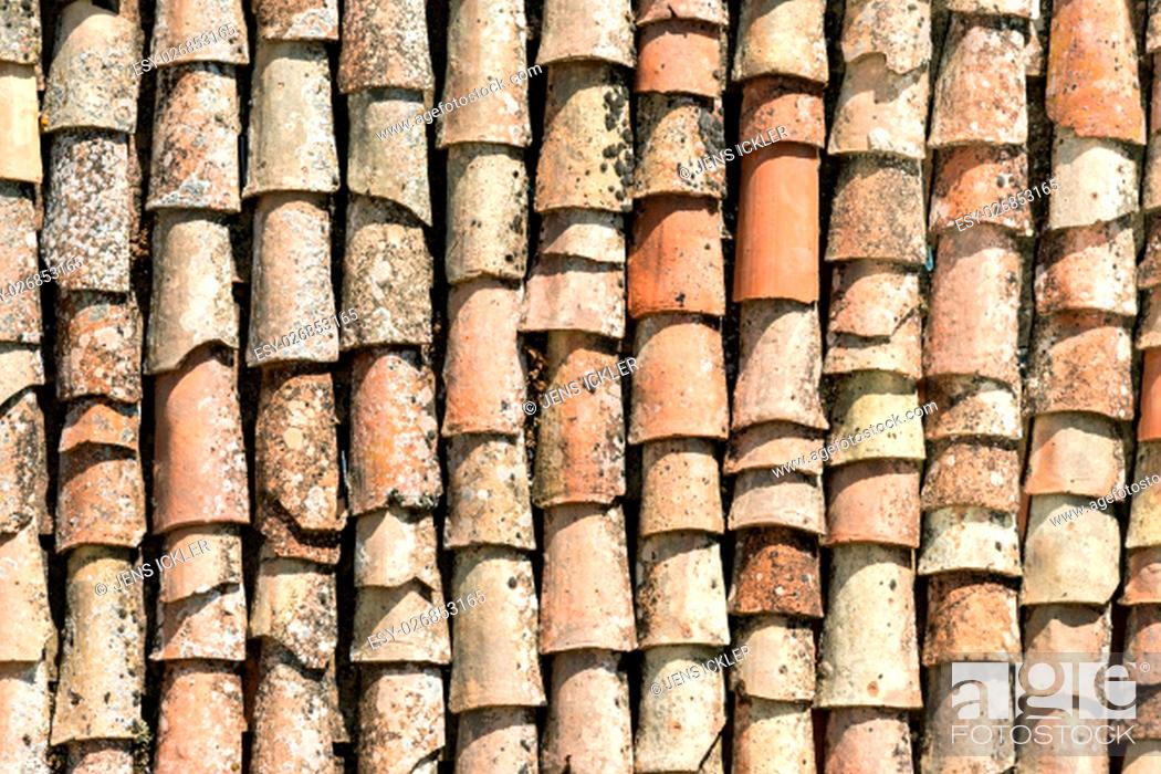 Stock Photo: Backgrounds, Design, Red, Building, City, Old, Architecture, Style, Texture, Shape, House, Historic, Backdrop, Model, Italy, Construction, Town, Surface, Figure, Village, Mediaeval, Roof, Community, Formation, Ceramic, Architectural Style, Shaping, Rooftop, Sicily, Roof Tile