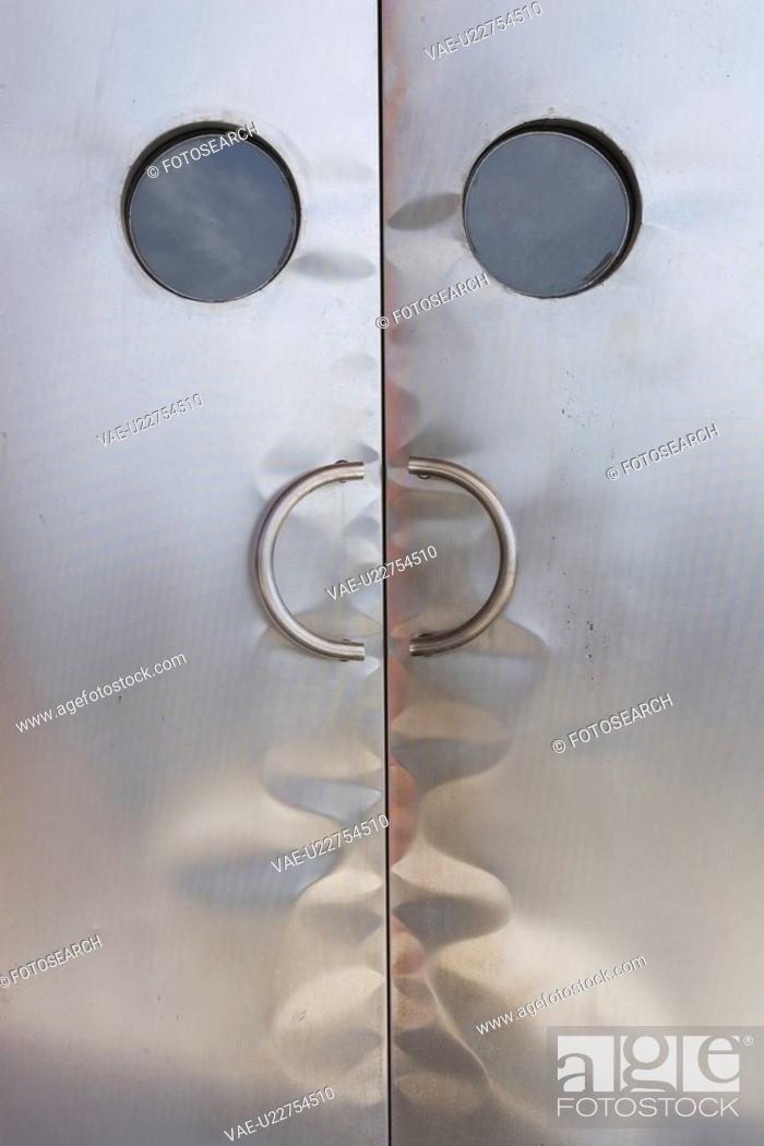 Stock Photo: Circle, Door, Close-Up, Closed, Arc.