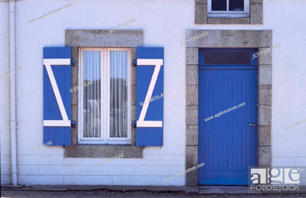 Stock Photo: France, Brittany, Front of traditional home.