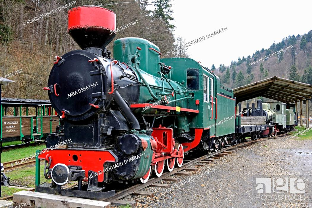 Stock Photo: Poland, historical train in Majdan.