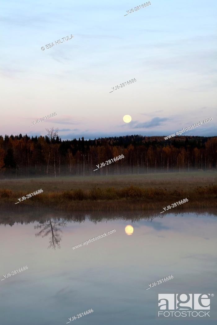 Stock Photo: Evening scenery, Valtimo Finland.