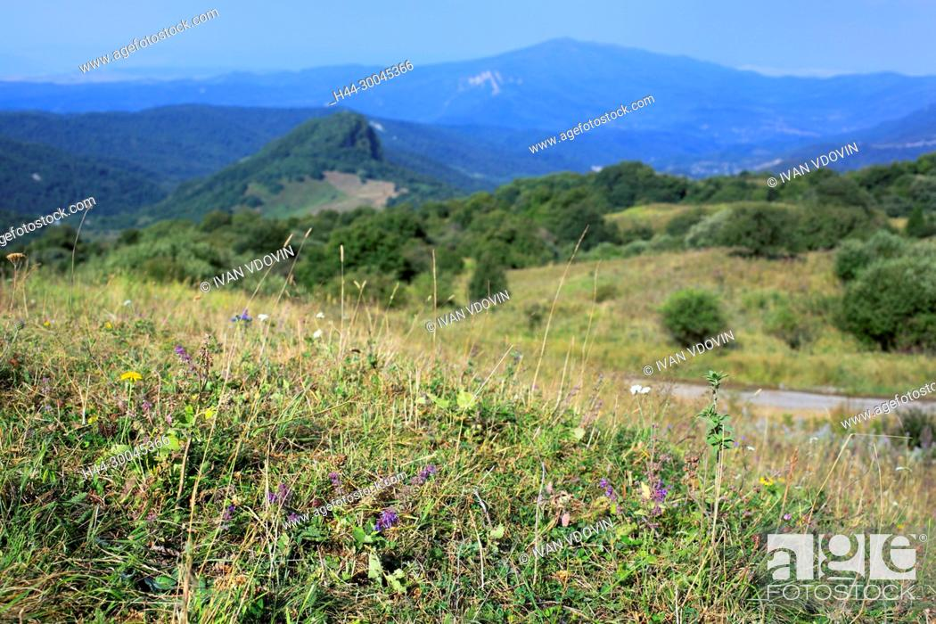 Stock Photo: Mountain landscape near Gombori, Shida Kartli, Georgia.