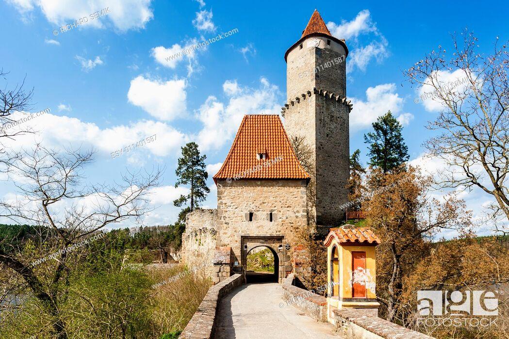 Stock Photo: Castle Zvikov, Czech Republic.