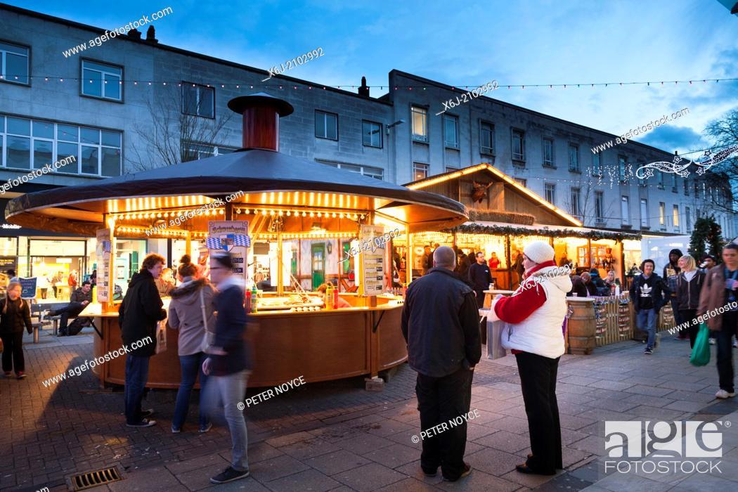 Stock Photo: Tradition christmas street market.