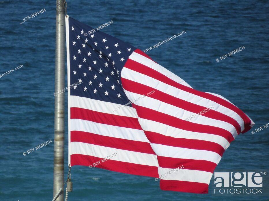 Imagen: USA flag flying.