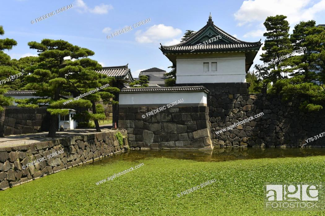 Stock Photo: Tokyo Imperial Palace, Japan, Asia.