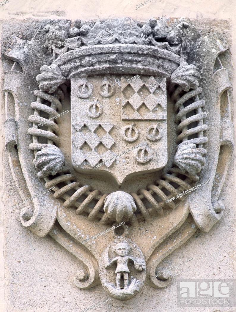 Family Crest Chateau De La Roche Courbon Saint Porchaire Poitou