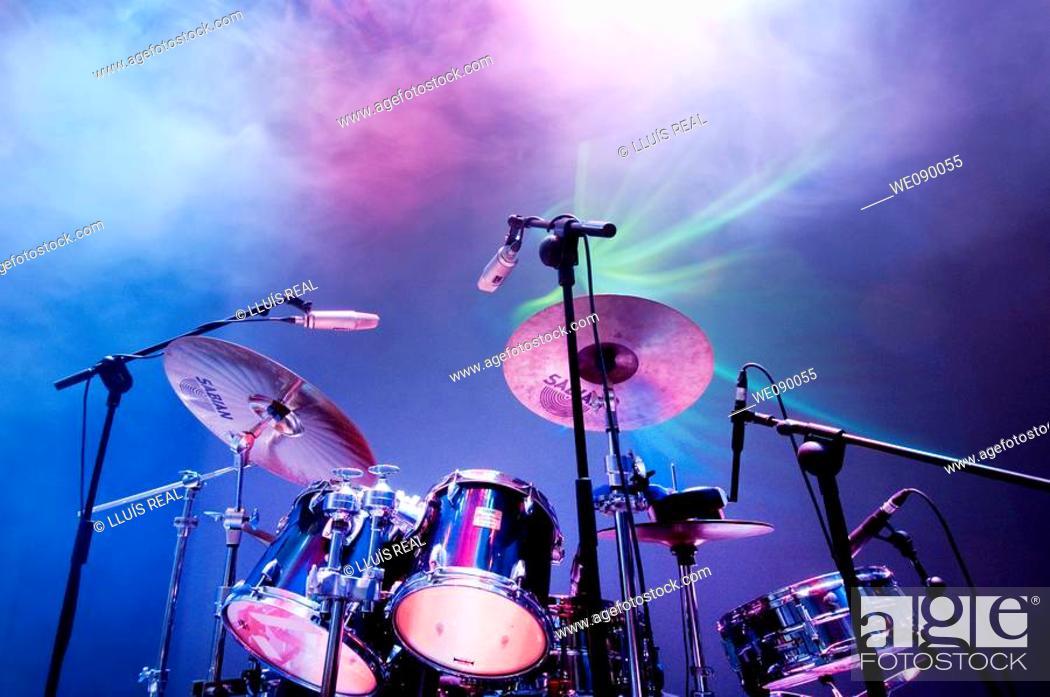 Stock Photo: Drum kit.