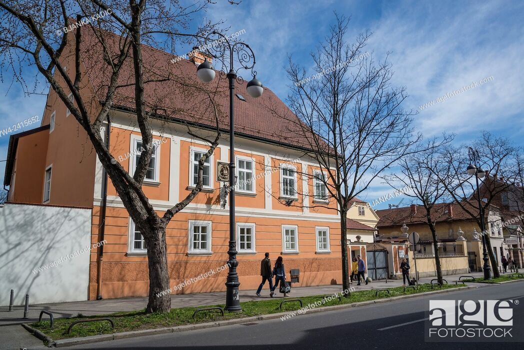 Stock Photo: Traditional house, Kaptol, Zagreb, Croatia.