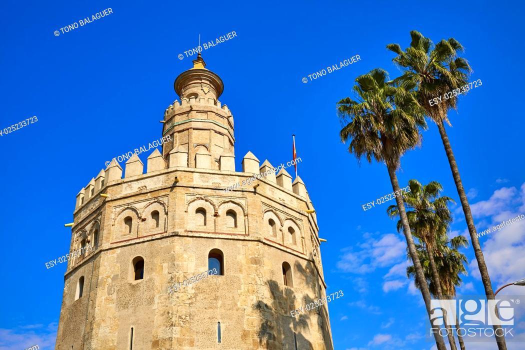 Imagen: Seville Torre del Oro tower in Sevilla Andalusia Spain.