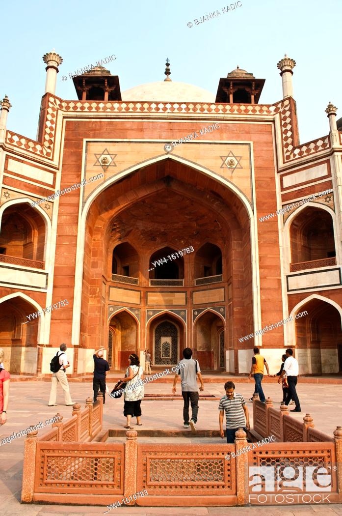 Stock Photo: Humayun's Tomb, New Delhi, India.