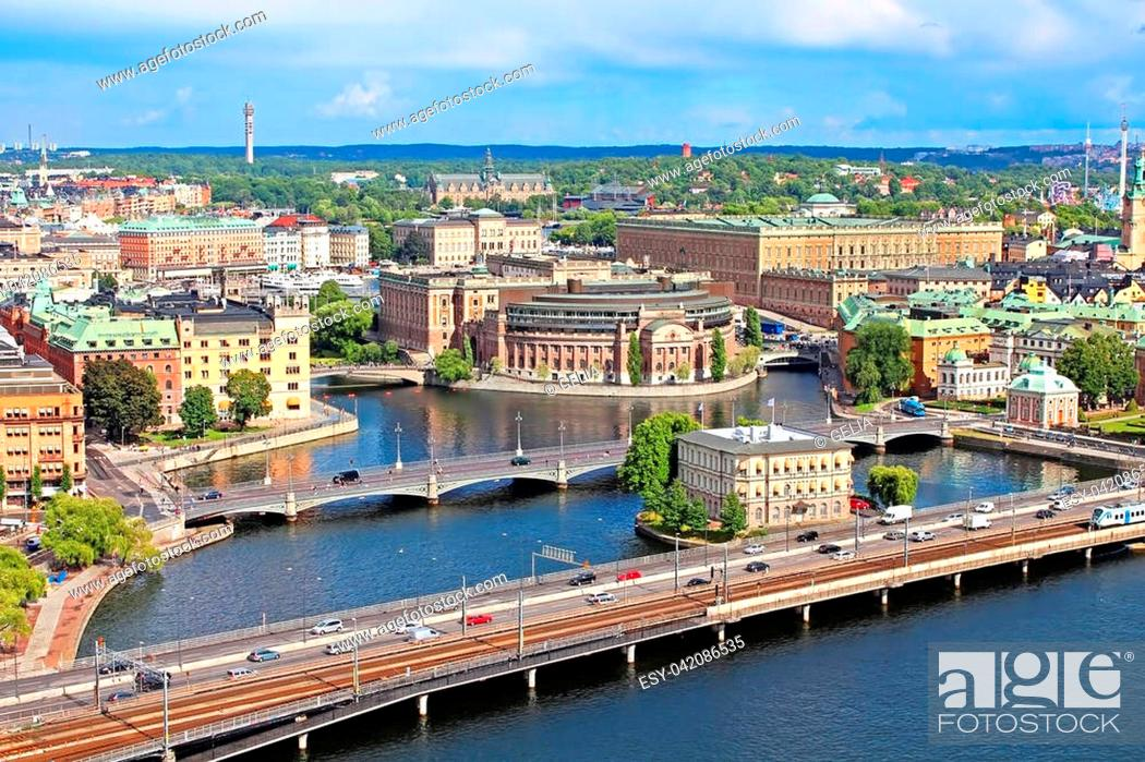 Stock Photo: Panorama of Stockholm, Sweden.