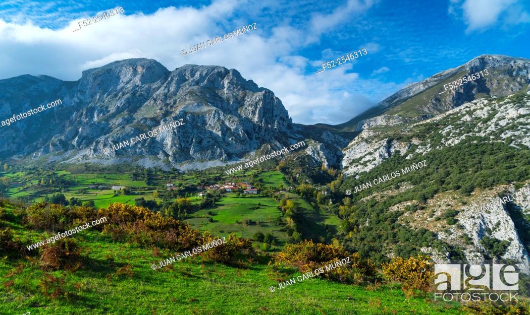 Stock Photo: Cabañes, Liébana Valley, Cantabria, Spain, Europe.