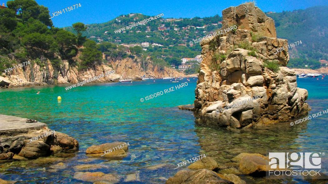 Stock Photo: Aiguablava beach in Begur Costa Brava Baix Empordà Catalunya Spain.