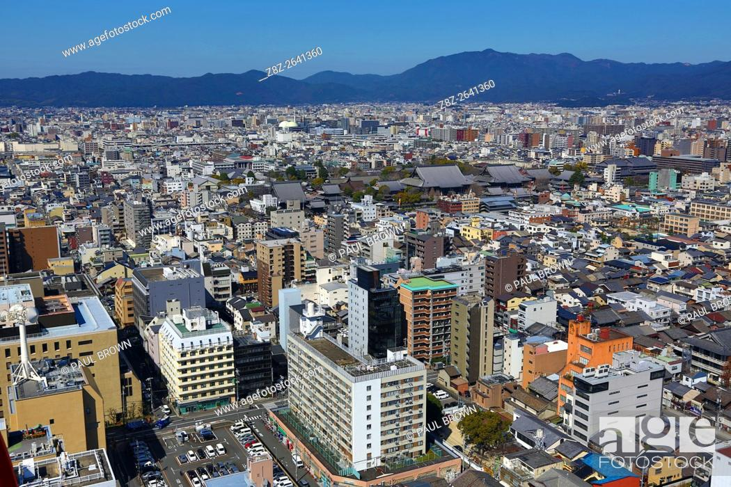 Stock Photo: General city view of Kyoto, Japan.