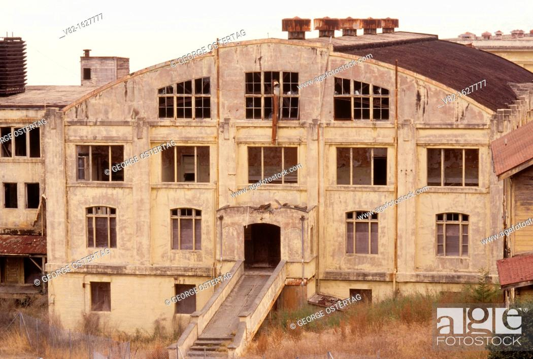 Stock Photo: West Battery buildings, Angel Island State Park, California.