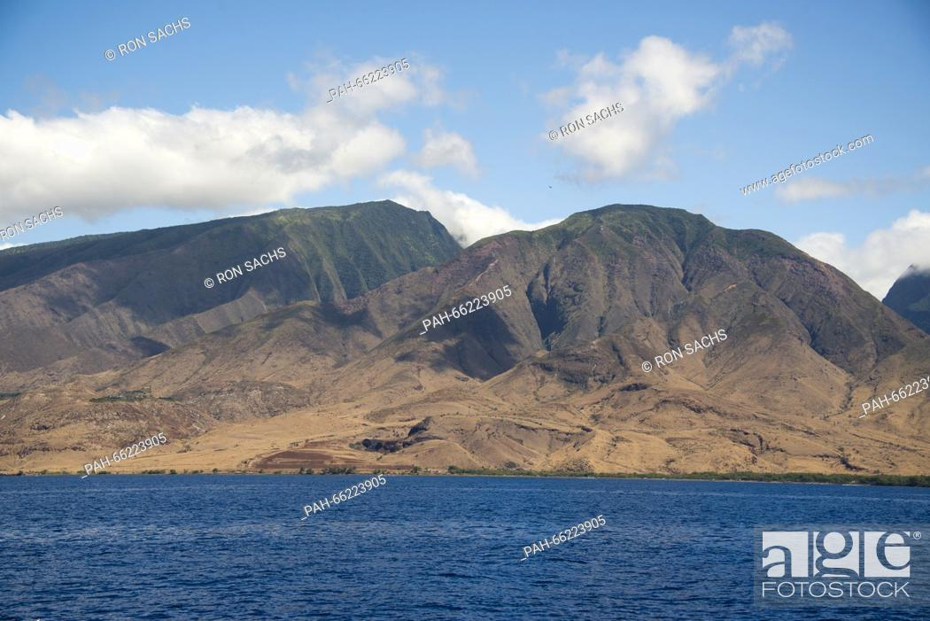 Stock Photo: Volcanic rock formations on the island of Maui, Hawaii from the Pacific Ocean on Thursday, February 25, 2016. Credit: Ron Sachs / CNP - NO WIRE SERVICE -  .
