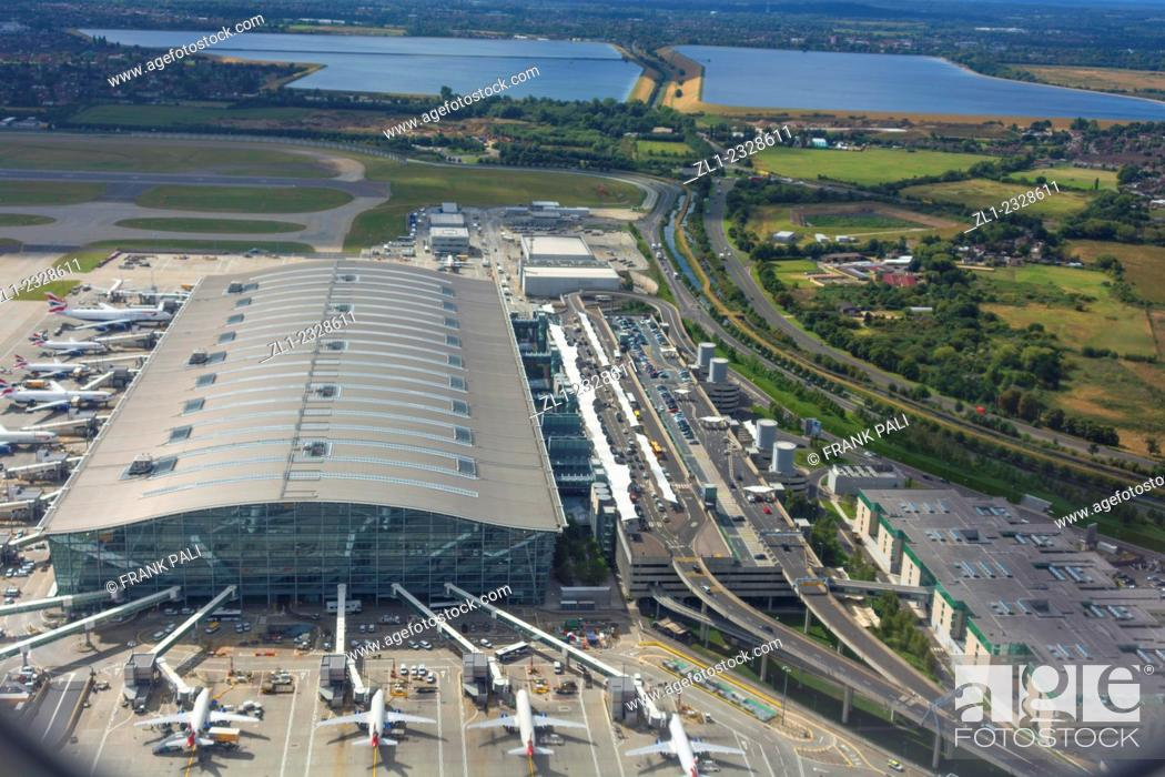 Stock Photo: London Heathrow Airport is a major international airport in West London, England, United Kingdom. Heathrow is the busiest airport in the United Kingdom and also.