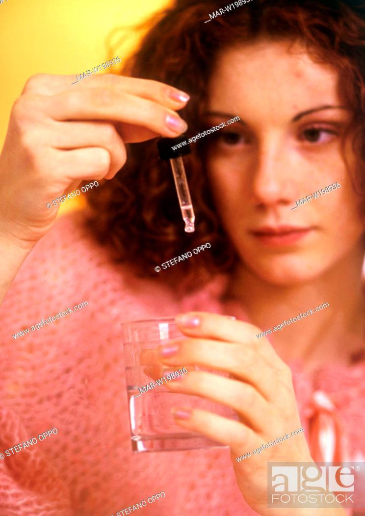 Stock Photo: girl, medicine.