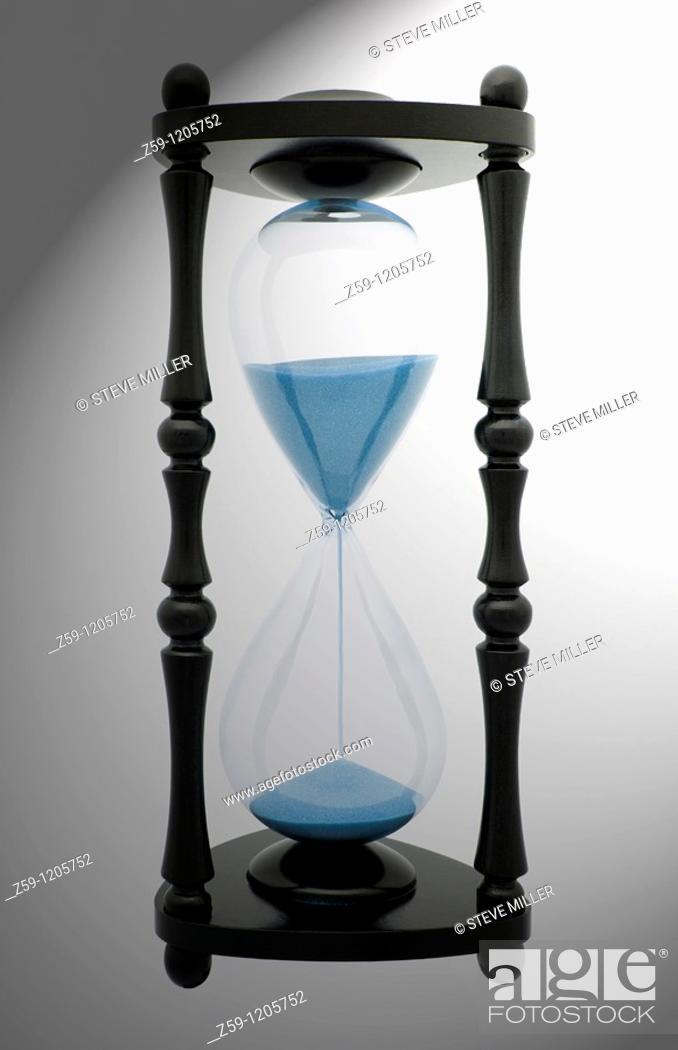 Stock Photo: digital enhancement - sandglass.