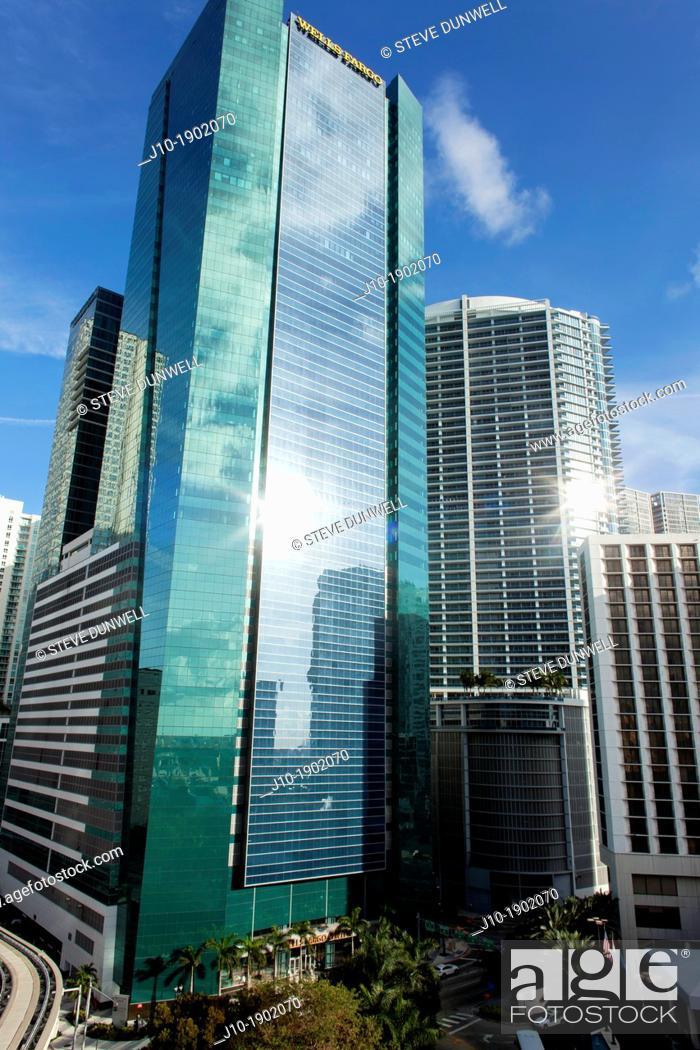 Stock Photo: Wells Fargo Center, Miami, Florida, USA.