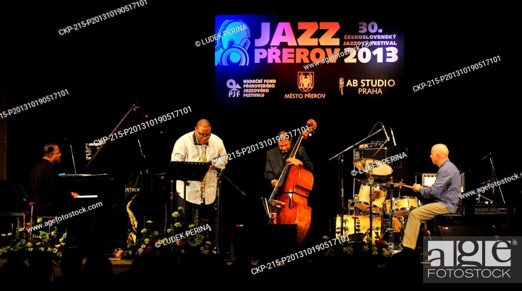 Stock Photo: US Buster Williams Quartet performs at Czechoslovak Jazz Festival in Prerov, Czech Republic, October 19, 2013. Pictured left to right: Eric Scott Reed.