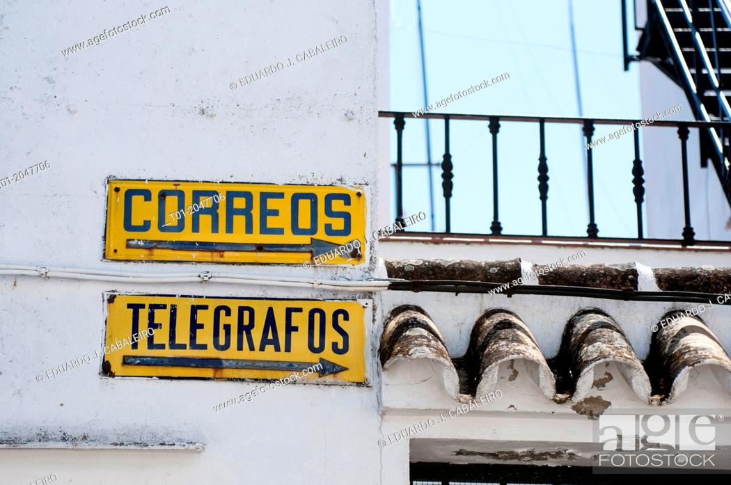 Stock Photo: antique plates in town of Seville.