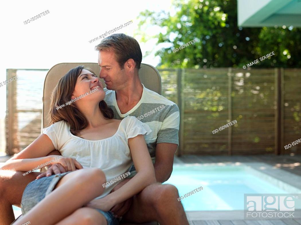 Stock Photo: Loving couple outdoors.